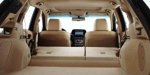 Acura RDX rear seats folded down