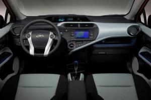 Interior of Toyota Prius C Two