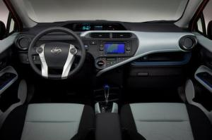 Interior of Toyota Prius C Two