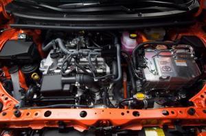 Toyota Prius C under the hood