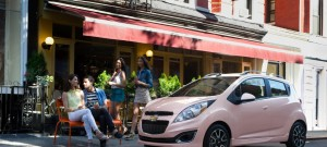 Pink Chevy Spark