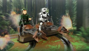 Star Wars Battle of Endor, star wars, land speeders, ewok, luke skywalker, slot car reviews, savageonwheels.com
