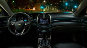 Malibu's interior is modern looking and features large buttons onthe center stack.