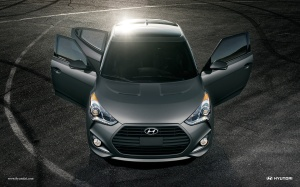 Veloster includes a third door on the passenger's side for easy access to the rear seat.