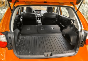 Folding down the seats creates a large, useable cargo area.