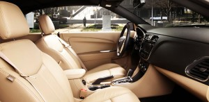 The Chrysler's leather interior is attractive and the seats relatively flat, but comfortable.
