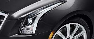 Sleek HID headlights give the ATS a sporty look.