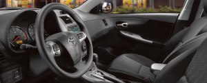 The Corolla's interior remains simply laid out.