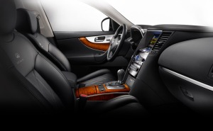 The FX37 has a gorgeous interior with maple trim.