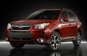 The production Forester retains a more macho look than many small utes and crossovers.