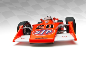 The 1973 indy 500 winning eagle driven by gordon johncock in the rain