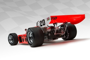 Another view of the Offy-powered 1973 Johncock Eagle. Note Johncock's car has white rear wing end plates.