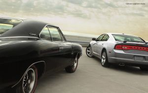 Old vs. New Charger ... both have a HEMI in 'em!