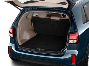Sorento offers plenty of cargo room behind the rear seat for family trips, or the rear seats will fold flat if you need to haul something large.