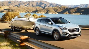 Santa Fe's 3.3-liter V6 is strong enough to pull a boat and trailer now.
