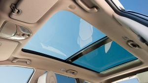 Santa Fe offers a giant panoramic sunroof.