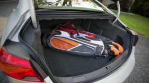 Impala's trunk is a monstrous 18 cubic feet ... luggage entertain you!