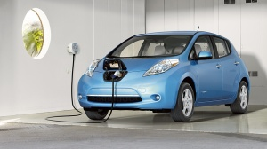 Plugging the Leaf into a wall outlet is simple, plus no more standing out in the rain or snow to power up your car.