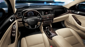Cadenza's dash is stylish and well laid out.