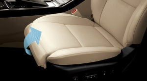 Cadenza's driver's seat features a power extender for the bottom cushion to make long-legged drivers more comfortable.