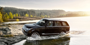 Fording a stream is all in a day's work for a Range Rover.