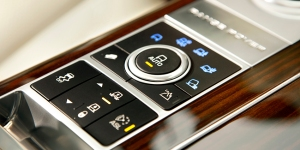 Buttons on the console, and a dial, allow the driver to adjust ride height, or select which off-road setting is needed.