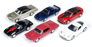 Auto World delivers six handsome die-cast models in 1:64 scale for $2.99 each. This is the series 1 release.