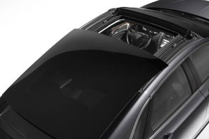 The optional sunroof is comprised of a large sliding glass roof panel.