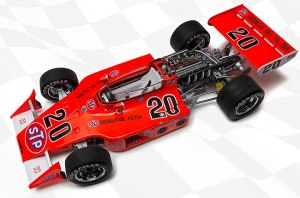 The 1973 Indy 500 winning Eagle, driven by Gordon Johncock.