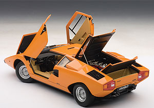 Everything opens on the Countach, including its clever scissors doors.