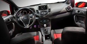 Fiesta's interior is attractive and efficient.