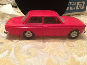 Red Volvo right side