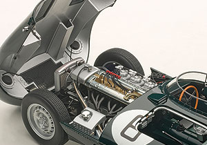 The D-Type's simple straight 6 is nicely detailed.