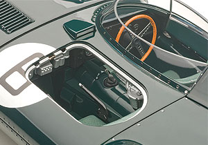 A removable panel reveals the Jag's second seat.