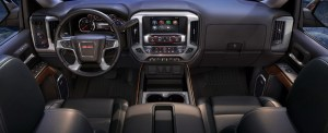 The dash features bold macho styling and big buttons and controls. This interior isn't for sissies!
