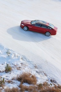 AWD allows the supercharged XJ to keep its composure, even in snow.