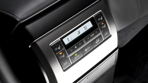There are seat warmers and other climate controls for the rear seat.