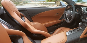 The test car's interior was black, but this two-tone looks rich and supple.