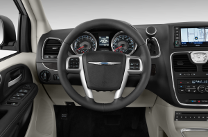 Controls are tidy and well placed in the Chrysler.