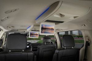 Flip-down screens add to long-term enjoyment on trips. Plus there's room for seven in a minivan.