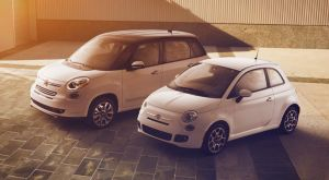 The 500L fairly dwarfs Fiat's standard 500 model.