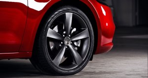 Smoked 5-spoke sport wheels give the GT a high-performance look.