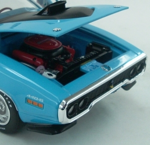 Auto World delivers nice detail, including the HEMI in this 1971 Road Runner.