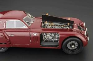 The engine here is a 1:18 -scale work of art.