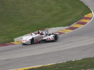 Here's the real DeltaWing at Road America in 2013, where it finished fourth.