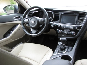 Inside the car looks luxurious and feels the same. Controls are easy to see and use too.