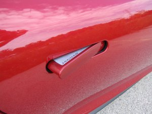 "Last but not least, the Jag's door handles pop out when you press ""unlock"" on the key fob."