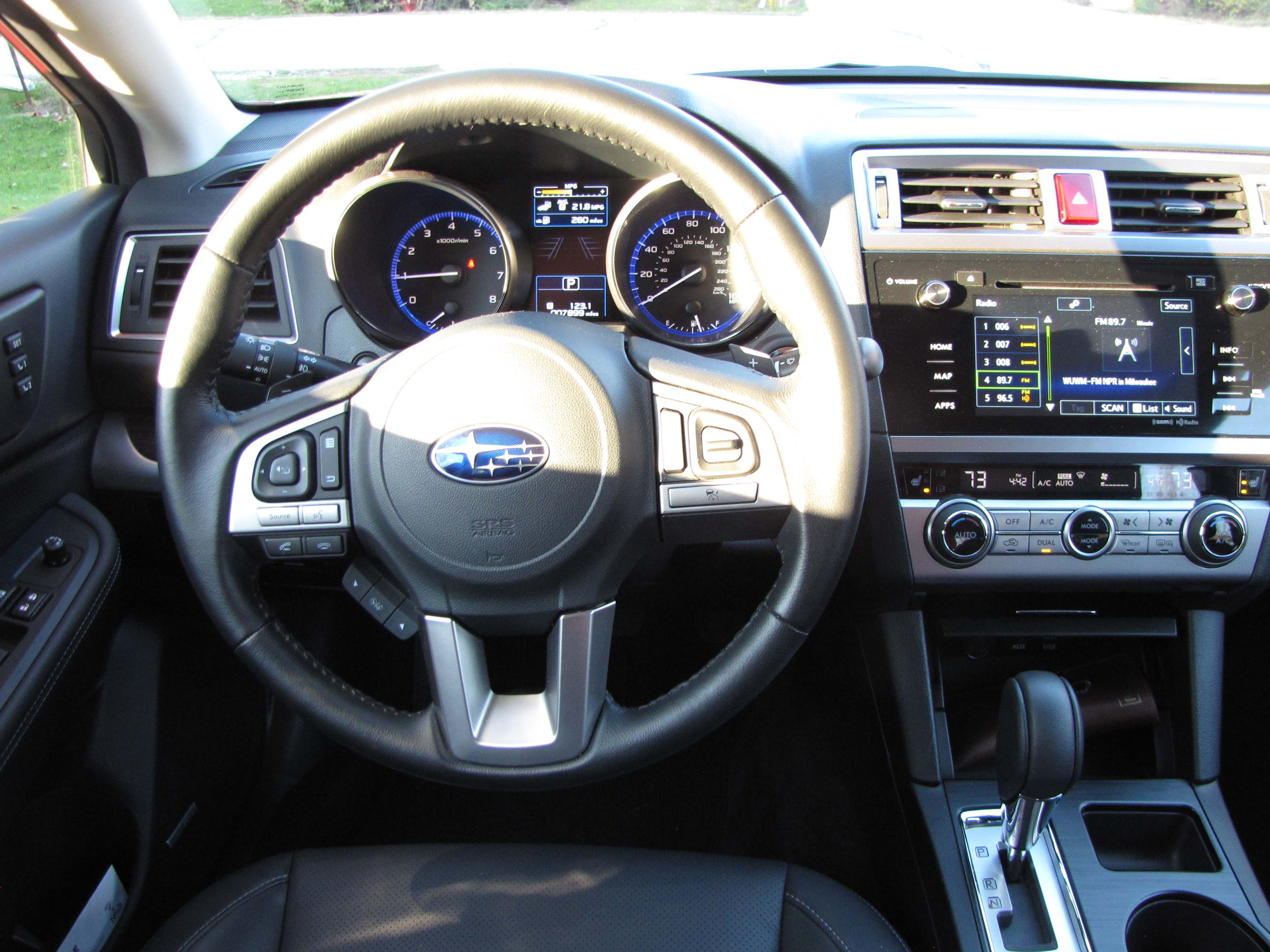 2015 subaru legacy 36r limited savage on wheels legacys interior is attractive and well laid out vanachro Images