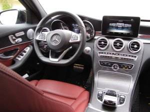 Love this interior, it looks great, is well laid out and the flat-bottomed wheel aids comfort while looking racy too.
