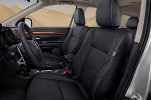 The Outlander's dash is well laid out and seats are comfortable.